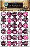 Go Pink 2 Bottle Cap Images - Printed