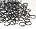 8mm Split Rings -Black
