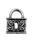 Antique Silver Lock Charm