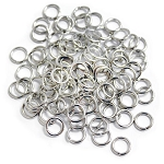 8mm Jump Rings -Chrome