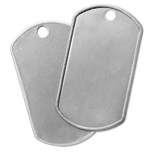 silver dog tags for dog tag necklaces at bottle cap co