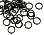 8mm Jump Rings -Black