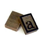 Wooden Letter Press -10 letter A's