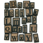 Wooden Letter Press -26 Alphabet Set