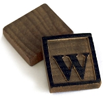 Wooden Letter Press -10 letter W's