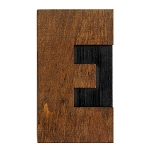 E, Large Letter Press Blocks