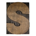S, Large Letter Press Blocks