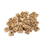 Wooden Mini Alphabet Tile Set -40 Count