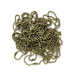 20 Inch Antique Gold Ball Chain Necklace