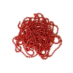 20 Inch Red Ball Chain Necklace