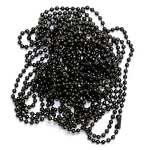 24 Inch Black Ball Chain Necklace