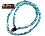 Aqua Blue Destiny Rescue Single Strand Necklace
