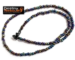 Metallic Blue,Green,Purple Destiny Rescue Single Strand Necklace