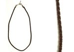 Braided Leather Necklace - Brown