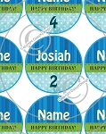 Birthday Blue-1 Inch Editable Bottle Cap Images