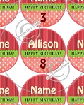 Birthday Pink-1 Inch Editable Bottle Cap Images