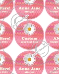 Daisy-1 Inch Editable Bottle Cap Images