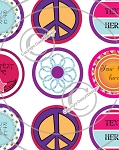Funky Tween-1 Inch Editable Bottle Cap Images