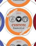 Peace, Love & Basketball-1 Inch Editable Bottle Cap Images