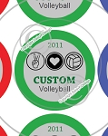 Peace, Love & Volleyball-1 Inch Editable Bottle Cap Images