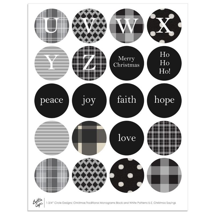 vintage christmas sayings 1 34 circle designs - Christmas Monograms