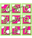 Alphabet Tile Images -Pink Polka Dot Alphabet