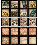 Alphabet Tile Images -World Traveler