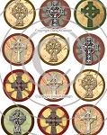 Bottle Cap Images-Celtic Crosses