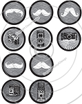 Bottle Cap Images - Chalk Art Mustache-Camera