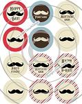 Bottle Cap Images Mustache Party