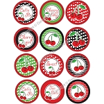 Bottle Cap Images -Cherry Girl