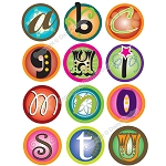 Bottle Cap Images -Funky Alphabet 1