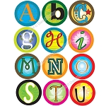 Bottle Cap Images -Funky Alphabet 2