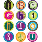 Bottle Cap Images -Funky Alphabet 4
