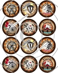 Bottle Cap Images -Vintage Circus