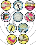 Bottle Cap Images Volleyball Star