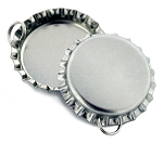 Chrome Bottle Cap Pendants - Standard