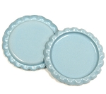 Two Sided Light Blue Flattened Bottle Caps