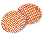 Two Sided Tangerine - White Polka Dots Bottle Caps Standard