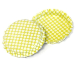 Two Sided Bright Yellow - White Polka Dots Bottle Caps Standard
