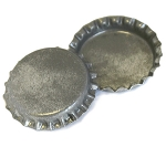 Two Sided Silver Patina Bottle Caps Standard