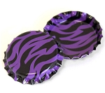 Two Sided Bright Purple Zebra Bottle Caps Standard