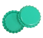 Two Sided Aqua Green Bottle Caps Standard