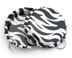 Two Sided Zebra Bottle Cap Pendants -Standard