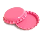 Two Sided Hot Pink Bottle Caps Standard