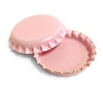 Two Sided Pink Bottle Caps Standard