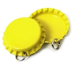 Two Sided Bright Yellow Bottle Cap Pendants -Standard