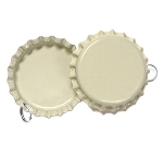 Two Sided Cream Bottle Cap Pendants -Standard