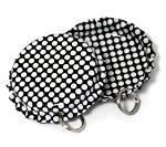 Two Sided Black - White Polka Dots Bottle Cap Pendants - Standard