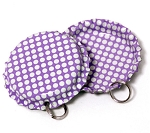 Two Sided Bright Purple - White Polka Dots Bottle Cap Pendants - Standard